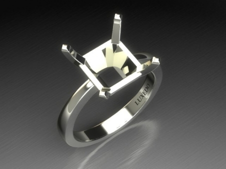 "18 kt gold solitaire ring ""Gravier"""