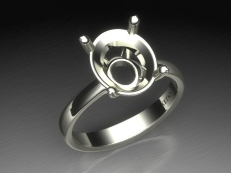 "Solitaire ring in 18 kt gold ""Souillac"""