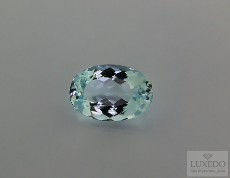 Aquamarine, oval cut, 3.01 ct
