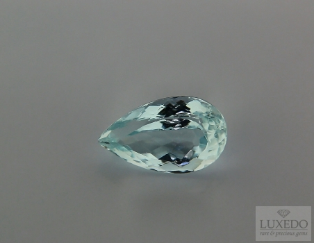 Aquamarine, drop cut, 4.43 ct