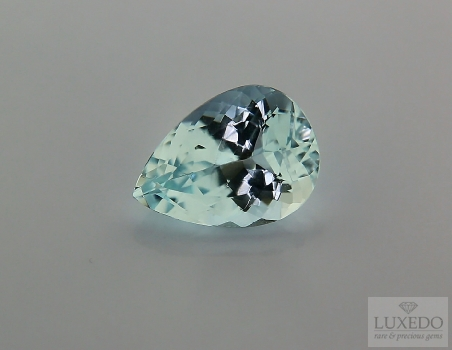 Aquamarine, drop cut, 4.79 ct