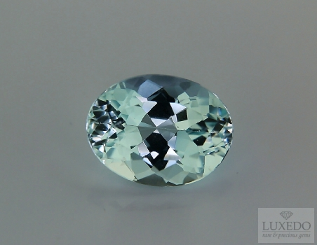 Aquamarine, oval cut, 8.72 ct