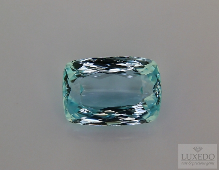 Aquamarine, cushion cut, 9.52 ct