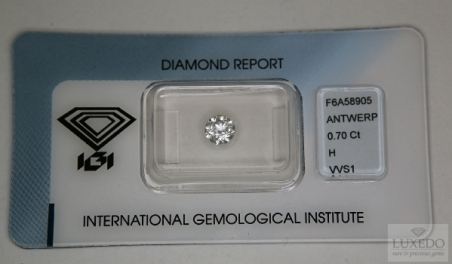 Diamante taglio Brillante H/VVS1, 0.70 ct (IGI)