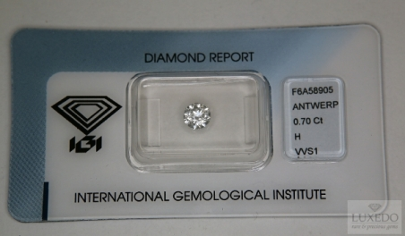 Diamond, brilliant cut H/VVS1, 0.70 ct (IGI)