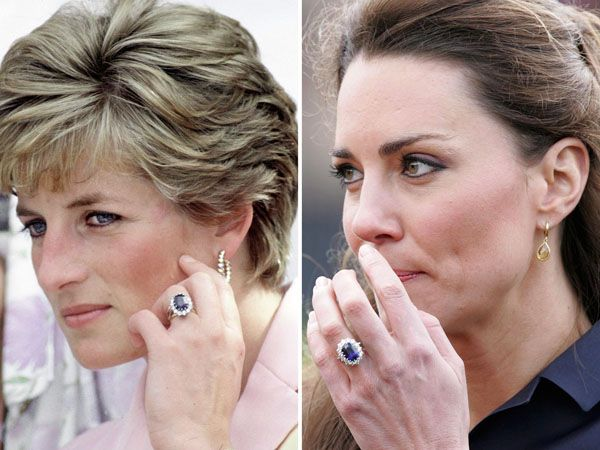 Lady Diana and Kate Middleton Sapphire ring