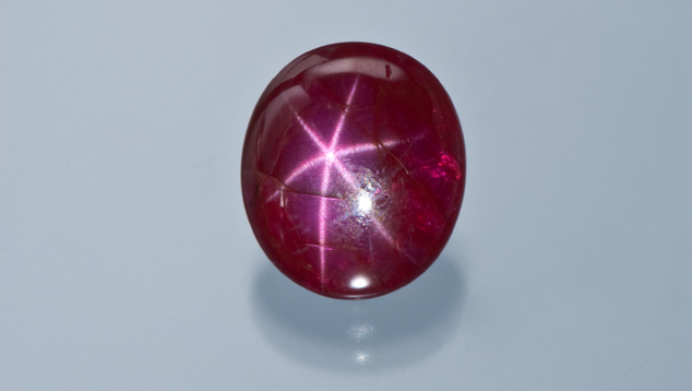 9.28 ct star ruby from Mogok, Burma.