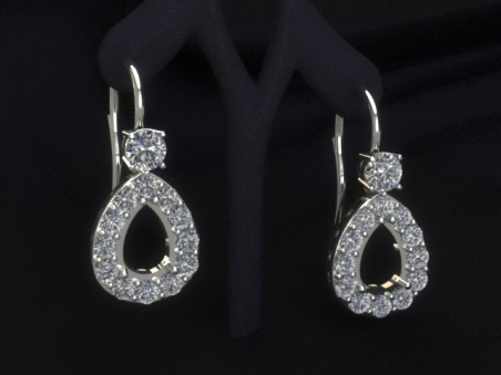"18 kt gold pendant earrings with diamonds ""Kate"""
